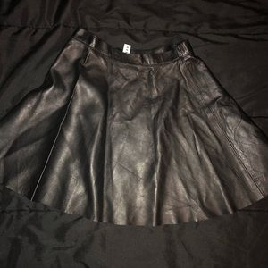 American Apparel Leather skirt